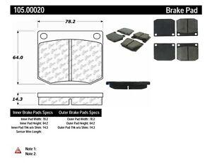 Disc Brake Pad Set-Eng Code: TCF Front Centric 105.00020