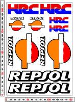 Repsol HRC RACING sticker decals set - cbf fireblade track