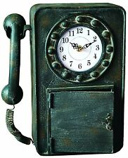 Manual Woodworkers Retro Telephone Clock IMCLPH