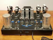 Working 1974 Custom Stereo Tube Power Amplifier 6EJ7, 6ES5, 6LR8, 6LF6 Tubes