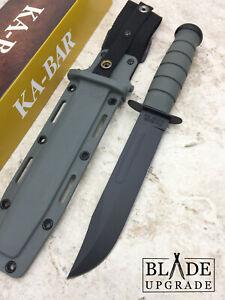 Ka-Bar Fighting Knife 1095 High Carbon Steel Kraton G Fixed Knife w/Sheath 5011
