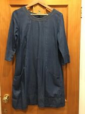 Gorgeous Sea Salt Denim Dress/smock Size 12