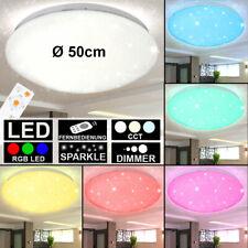50W LED Deckenleuchte Deckenlampe Wandlampe Flur Starlight Effekt Rund KaltWeiß