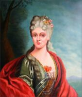 Quality Hand Painted Oil Painting Portrait of a Countess 20x24in