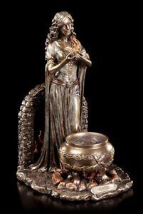 Brigid Figur - Keltische Göttin - Veronese Statue Bronze-Optik Sammelfigur