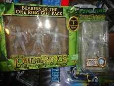 LORD OF THE RINGS BEARERS OF THE ONE RING 3 PACK, PLUS TWILIGHT FRODO, ALL UNOPE