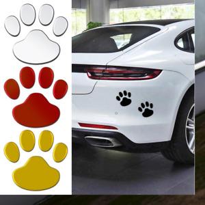 2Pcs 3D Car Sticker Cool Design Paw Animal Dog Cat Bear Foot Prints Footprint