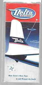 ***1951 Delta Air Lines System Timetable - April 1, 1951***