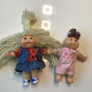 "2 Originale Cabbage patch kids Puppen, signiert ""13"""