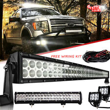 "20inch + 50 inch LED Light Bar + 2x 4"" Led Pods Off road Truck Jeep SUV 52"