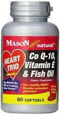 HEART TRIO BY MASON DIETARY SUPPLEMENT CO Q-10, VITAMIN E, & FISH OIL 60 SOFTGEL