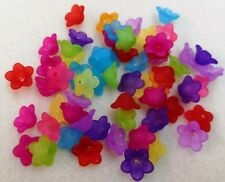 10gms (40+ Flowers)  Lucite Flowers in Assorted Jelly Frost Colours