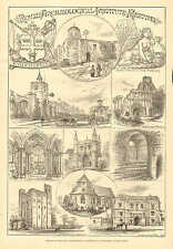 Colchester, England, Royal Archaeological Institute, Vintage 1876 Antique Print