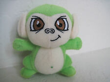 "4"" Neopets Monkey Plush Stuffed Animal ~ Green Mynci"