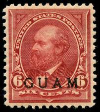 momen: Guam Stamps #6 Mint OG XF+