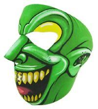 Goon Jester Clown Neoprene Face Mask Green Joker ATV Ski Biker Costume Reverses