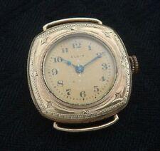 "Ladies Old/Antique/Vintage EARLY Elgin ""Wristlet"" watch w/engraved case"