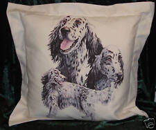 Hand Crafted English Setters dogs cushion cover