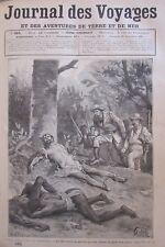 Zeitung der Voyages Nr. 585 von 1888 Afrika Weisen Deviner Fetisch Ausführung