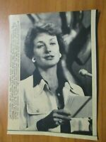 Vintage Wire Press Photo - Diana Muldaur 30th Emmy Awards 1978