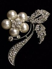 10 PACK Rhinestone Pearl Wedding Cake Brooch Bouquet Pin Decoration Brooch LOT