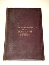 The Proportions Of The Human Figure W W Story Fold Out Diagrams Antique Book Art