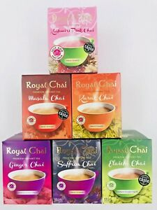 Royal Chai Instant Tea Masala Karak Elaichi Ginger Sweet & Unsweet Fast Delivery