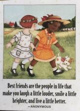 Mary Engelbreit Artwork-Best Friends Are The People-Handmade Fridge Magnet
