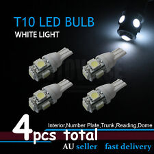 4x T10 White 5-LED Side Wedge Tail Number Plate Parker Light Globes W5W 194 168