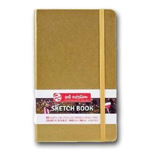ROYAL TALENS© ART CREATION - ARTIST SKETCHBOOK 13 x 21cm - WHITE GOLD HARD COVER