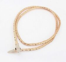 Women Vintage Chain Pendant Crystal Snake Choker Bib Statement Necklace Jewelry