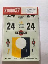 STUDIO 27 Decal 1/12 Porsche 910 # 24 Nurburgring 1968 pour TAMIYA DC384