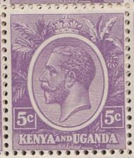 Kenya Uganda GV 5c single stamp SG77 dull violet MNH