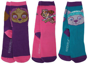 Pack of 3 Girls Paw Patrol Socks. Size 9-12 or Size 12.5-3.5