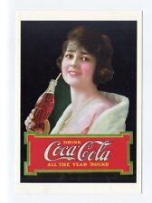 ad236 - Coca Cola - woman drinks cola 1922 advert  - art postcard