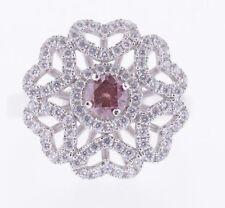 1.50 Carat Pink SI1 Round Diamond Solitaire Ring 14K WG  Valentine Day Spl.Sale