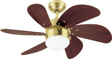 """small Westinghouse ceiling fan Turbo Swirl satin brass with lighting 30"""""""