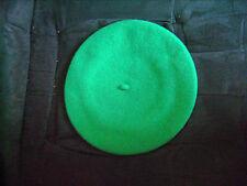 Béret basque de marque Blancq-Olibet vert vif en 100 % laine neuf