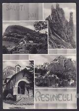 LECCO PIAN DEI RESINELLI 12 SALUTI da... VEDUTINE Cartolina FOTOGRAF. viagg 1952