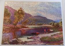 Vintage Tuco Interlocking Picture Puzzle Purple Cloud Cow 19 x 14