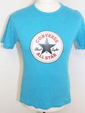 CONVERSE Mens Sky Blue T Shirt Size Small