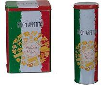 Italienische Stil Metall Pasta Dosen Rechteckig & Zylinder Spaghetti Glas /