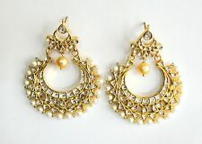 Vintage antique Solid 20K Gold jewelry Diamond polki Earring Pair india