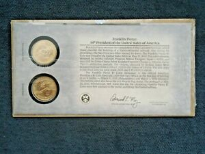2010 Franklin Pierce Gold Plated Dollar - Philadelphia & Denver Mint Set