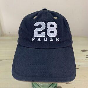 MARSHALL FAULK - ST LOUIS RAMS - NWOT Navy Blue NFL LA Strapback Hat, Dad Cap