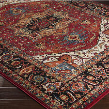 "7x10 (6'7"" x 9'6"") Traditional Oriental Tribal Lodge Red Area Rug"