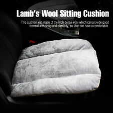Lamb's Wool Built in Cotton Winter Warm Sitting Cushion Gray 1P for All Vehicle