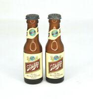Vintage Glass Schlitz Bottles Figural Salt And Pepper Shakers