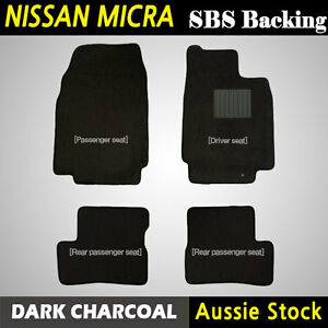 CAR CARPET FLOOR MATS Front Rear Fits for NISSAN MICRA K12 (2007-2010) Tailored