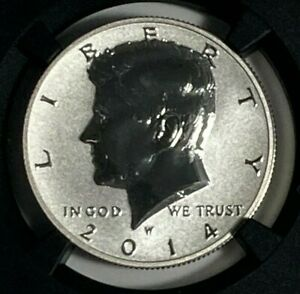 2014 W Silver Reverse PR PF 69 High Relief Early Releases Kennedy US Half Dollar